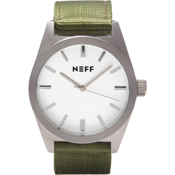 Neff - Nightly Silver/Olive Watch
