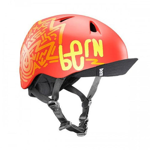 Bern - Nino Matte Orange Zig Zag Bike Helmet
