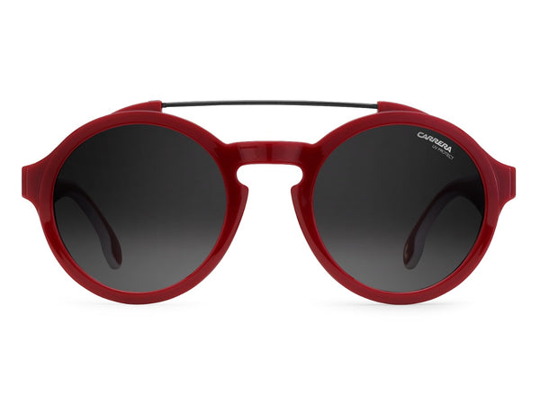 Carrera - 1002 Red White Sunglasses / Dark Gray Gradient Lenses