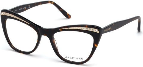 Marciano - GM0337 Dark Havana Eyeglasses / Demo Lenses