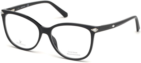Swarovski - SK5283-F Shiny Black Eyeglasses / Demo Lenses