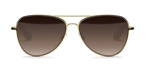 Elizabeth and James - Stanton Gold Sunglasses / Brown Gradient Lenses