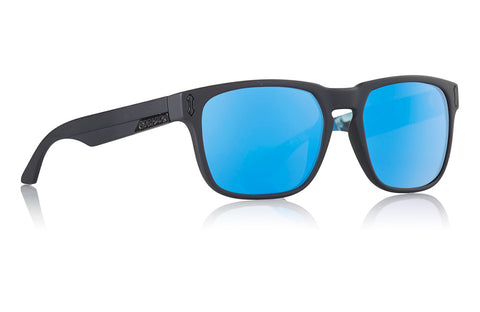 Dragon - Monarch Matte Black Bryan Sunglasses / Blue Ion Lenses