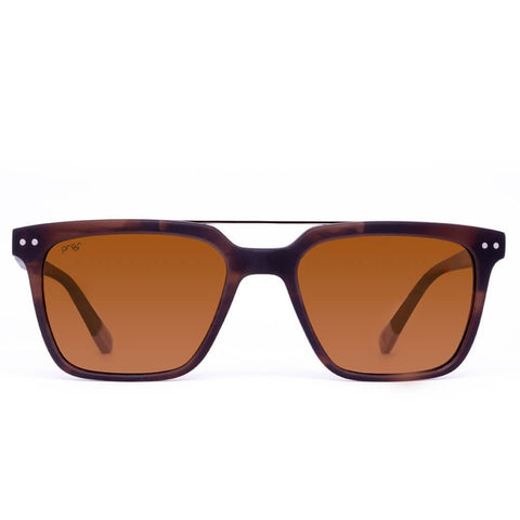 Proof - 45th Parallel Eco Matte Caramel Sunglasses / Brown Polarized Lenses