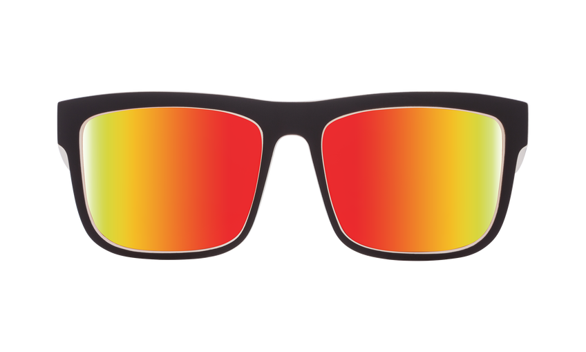 91a1775b219 Spy - Discord Whitewall Sunglasses   Happy Gray Green Red Spectra Lenses
