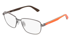 Puma - PJ0013O Junior Ruthenium + Orange Eyeglasses / Demo Lenses