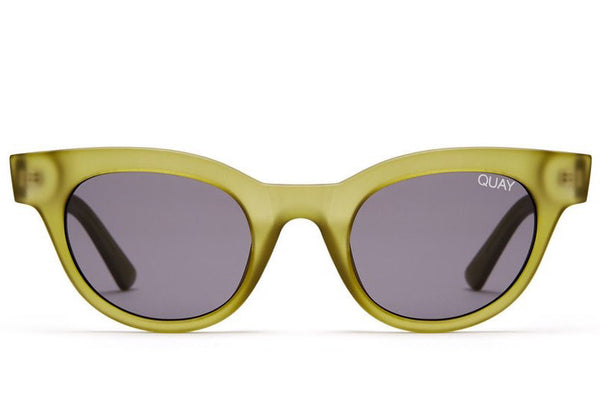 19192656472 Quay  QUAYXKYLIE Star Struck Olive   Smoke Sunglasses