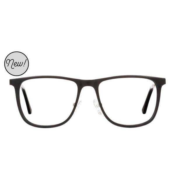Proof - Olympia Aluminum Rx Black Eyeglasses / Demo Lenses