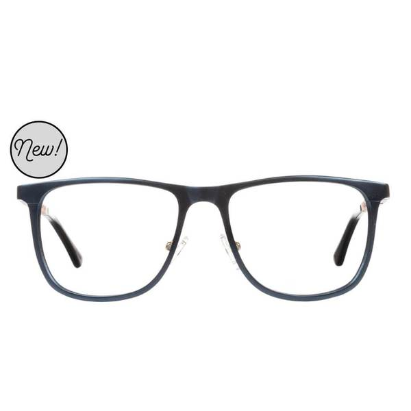 Proof - Olympia Aluminum Rx Navy Eyeglasses / Demo Lenses