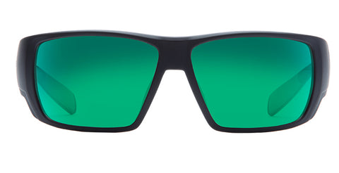 Native - Sightcaster Matte Black Sunglasses / Green Reflex Lenses