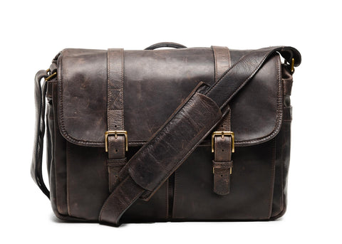 ONA - Leather Brixton Dark Truffle Messenger Bag