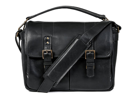 ONA - Leather Prince Street Black Messenger Bag