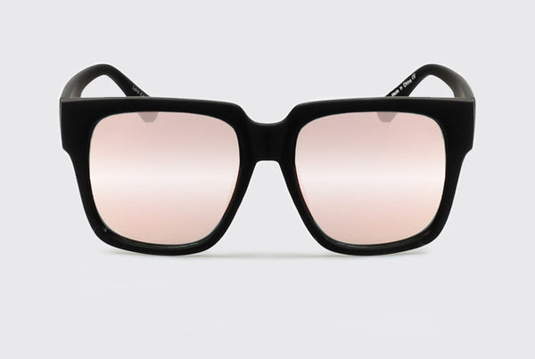 Quay On The Prowl Black / Pink Mirror Sunglasses