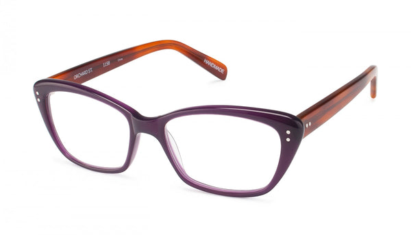 Scojo New York - Orchard Street Purple Blonde Tortoise Reader Eyeglasses / +3.00 Lenses