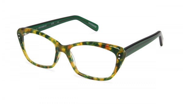 Scojo New York - Orchard Street Pineapple Green Reader Eyeglasses / +1.50 Lenses