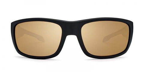 Kaenon - Anacapa Matte Black Sunglasses / B12 Brown Gold Mirror Lenses