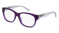 Puma - PJ0003O Junior Violet + Crystal Eyeglasses / Demo Lenses