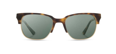 Shwood - Newport 52mm Acetate  Matte Brindle Sunglasses / G15 Polarized Lenses