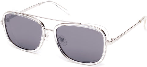 Kenneth Cole - KC7221 Crystal Sunglasses / Smoke Mirror Lenses