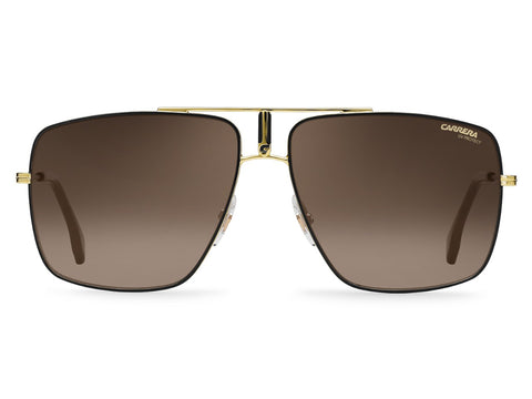 Carrera - 1006 Black Gold Sunglasses / Brown Gradient Lenses