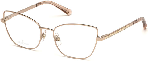 Swarovski - SK5287 Shiny Rose Gold Eyeglasses / Demo Lenses