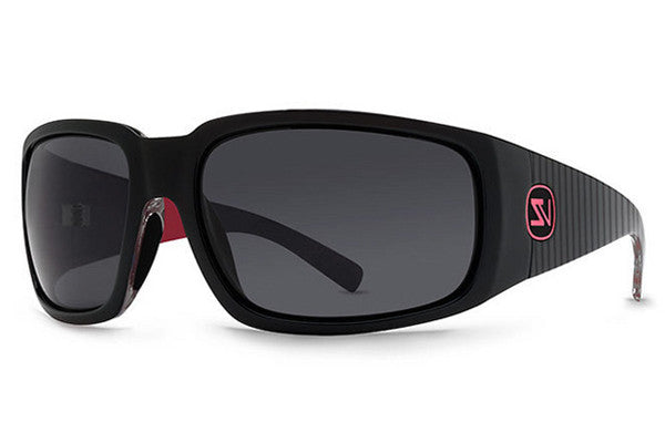 VonZipper - Palooka Lux Black Red LUR Sunglasses, Grey Lenses