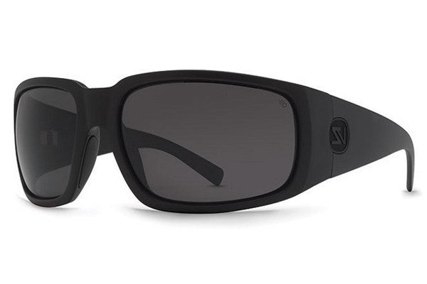 VonZipper - Palooka Black Satin ASP Sunglasses, Ansi Grey Polarized Lenses