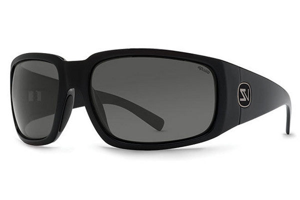 VonZipper - Palooka Black BGX Sunglasses, Wildlife Grey Glass Polarized Lenses