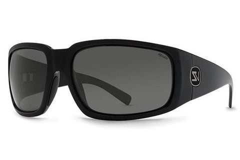 VonZipper - Palooka Black Gloss PBV Sunglasses, Wildlife Vintage Grey Polarized Lenses