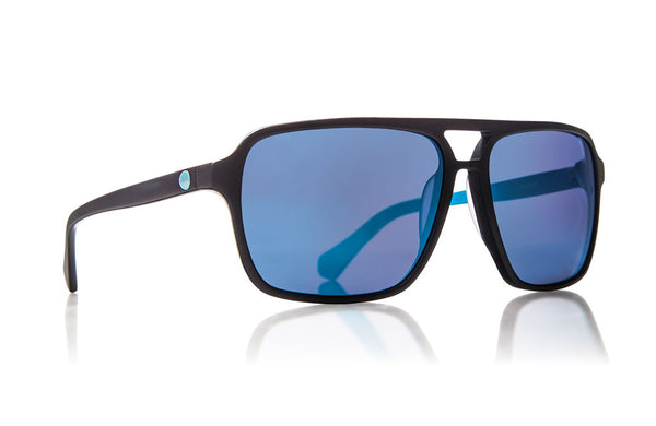 Dragon - Passport Matte Black Blue / Skye Blue Ion Sunglasses