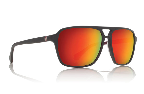 Dragon - Passport Matte Magnet Grey / Red Ionized Sunglasses