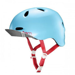 Bern - Berkeley Satin Patel Blue With Flip Visor Bike Helmet