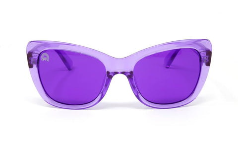 RainbowOPTX - Vega Transparent Violet Sunglasses / Violet Lenses