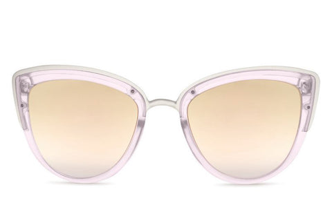 Quay My Girl Pink Sunglasses, Pink Mirror Lenses