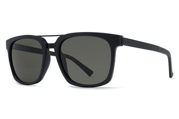 VonZipper - Plimpton Black Satin BKS Sunglasses, Grey Lenses