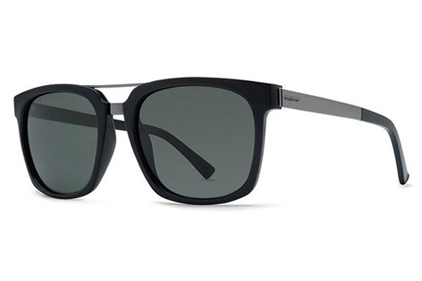 VonZipper - Plimpton Black BPP Sunglasses, Grey Poly Polar Lenses