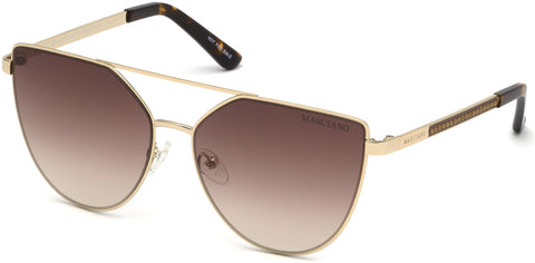 Marciano - GM0778 Gold Sunglasses / Gradient Brown Lenses