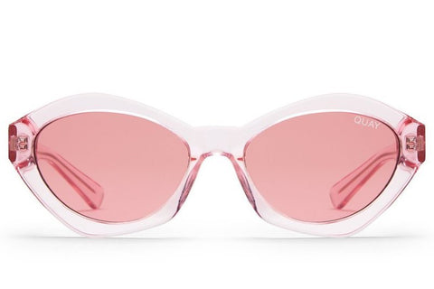 Quay #QUAYXKYLIE As If! Pink Sunglasses, Pink Lenses