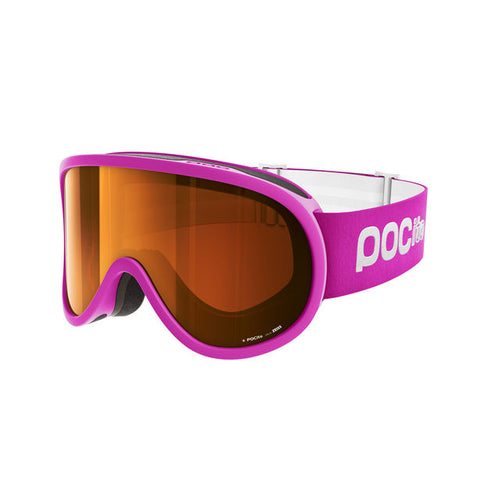 POC - POCito Retina Fluorescent Pink Snow Goggles / Orange Mirror Lenses
