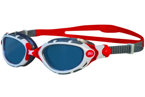 Zoggs Predator Flex Polarized Red Swim Goggles