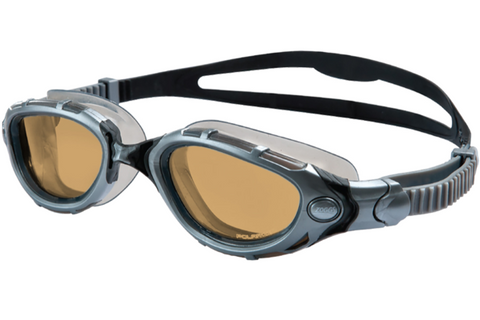 Zoggs Predator Flex Polarized Ultra Black Swim Goggles