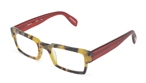 Scojo New York - Prince Street Tortoise Red Reader Eyeglasses / +3.00 Lenses