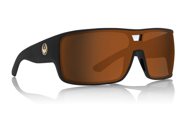 Dragon - HEX Matte Black Sunglasses / Bronze Lenses