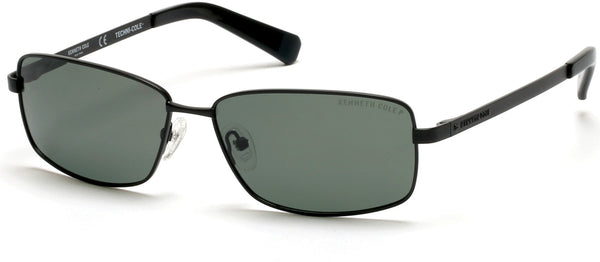 de019b589a Kenneth Cole - KC7212 Matte Black Sunglasses   Green Polarized Lenses
