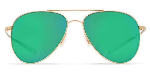 Costa - Cook Shiny Gold Sunglasses / Green Polarized Glass Lenses