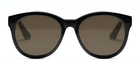 Elizabeth and James - Foster Black Sunglasses / Brown Mono Lenses