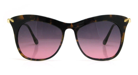 Elizabeth and James - Fairfax Shiny Tortoise/Gold Metal Sunglasses / Smoke Red Ocean Lenses