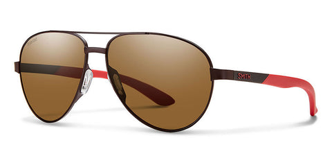 Smith - Salute Matte Brown Sunglasses / Carbonic Polarized Brown Lenses