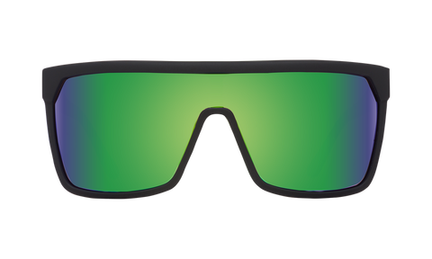Spy - Flynn Matte Black Sunglasses / Happy Bronze Green Spectra Lenses