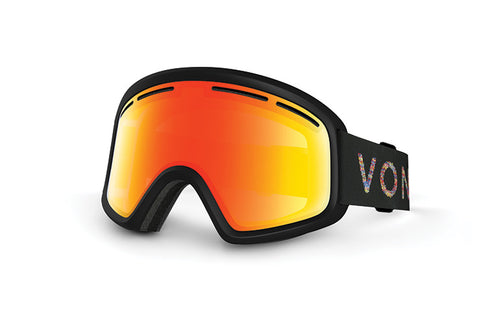 VonZipper - Trike Black Snow Goggles / Red Lenses